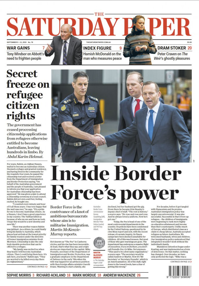 Tony Abbott Saturday Paper
