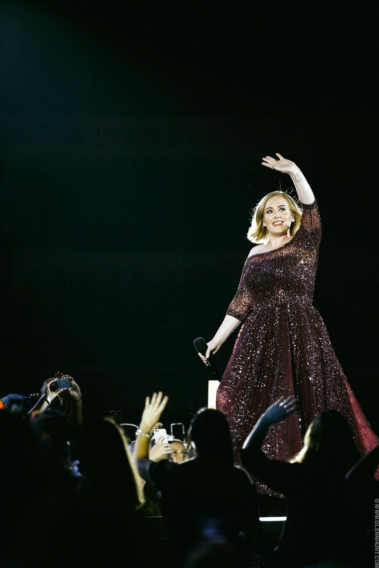 Adele in concert at the Gabba, Brisbane.