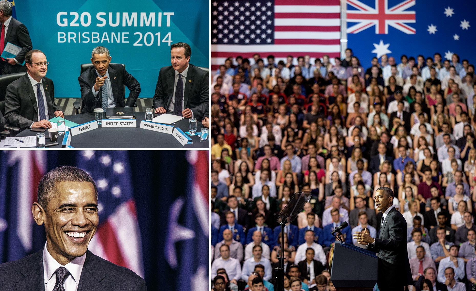 Barack Obama at the Brisbane G20 Summit