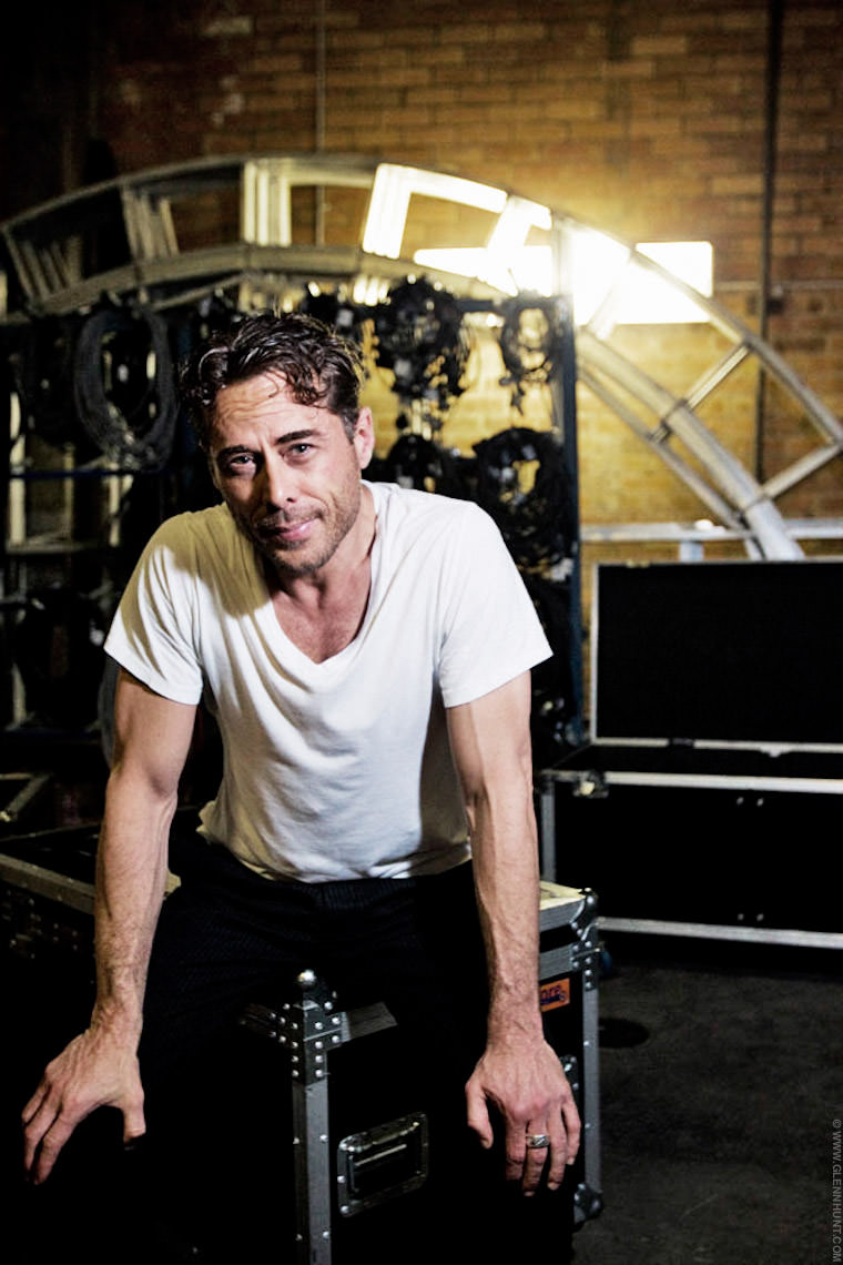 Marcus Graham at the Brisbane Theatre company in rehearsals for