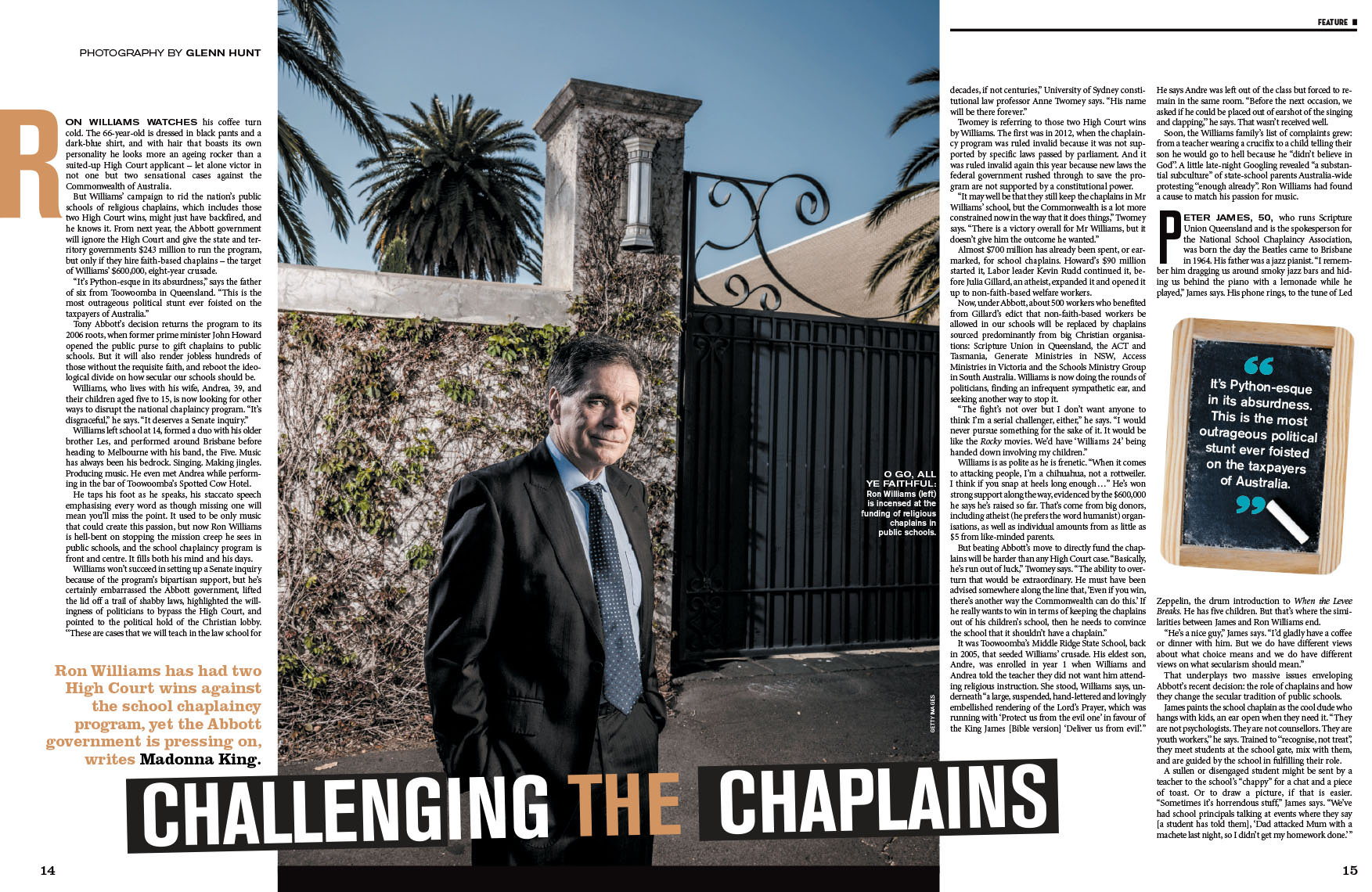 Ron Williams School Chaplains