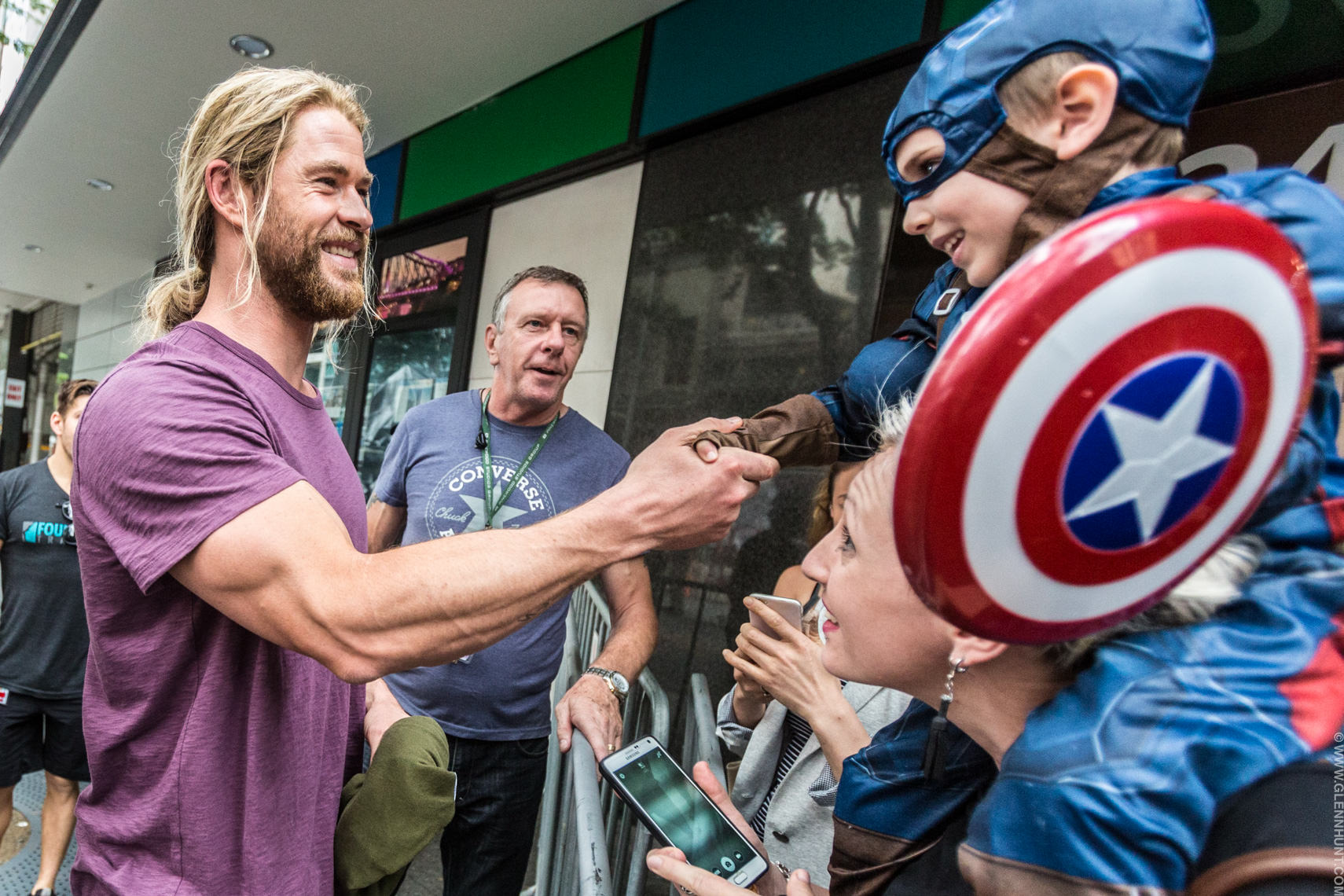 Chris Hemsworth Captain America Glenn Hunt Brisbane Photographer