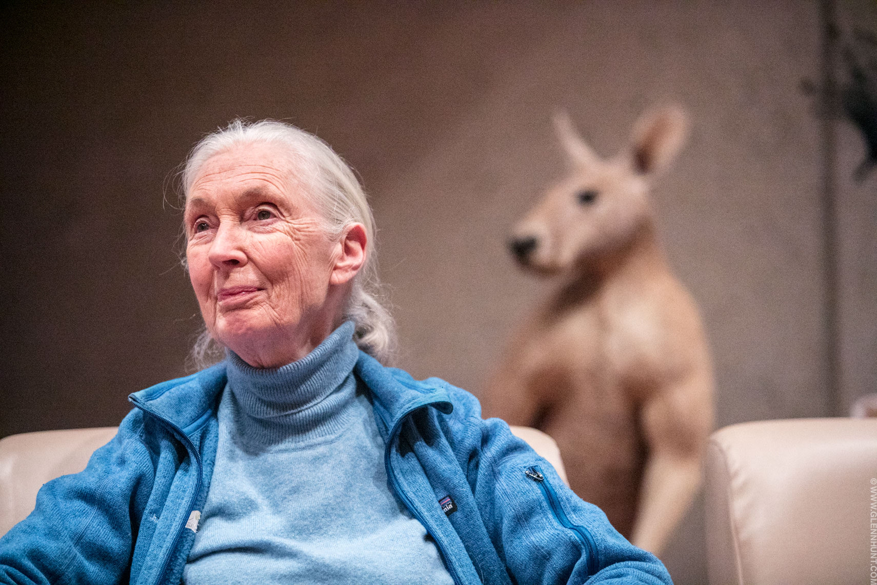 Dr Jane Goodall at the Queensland Museum