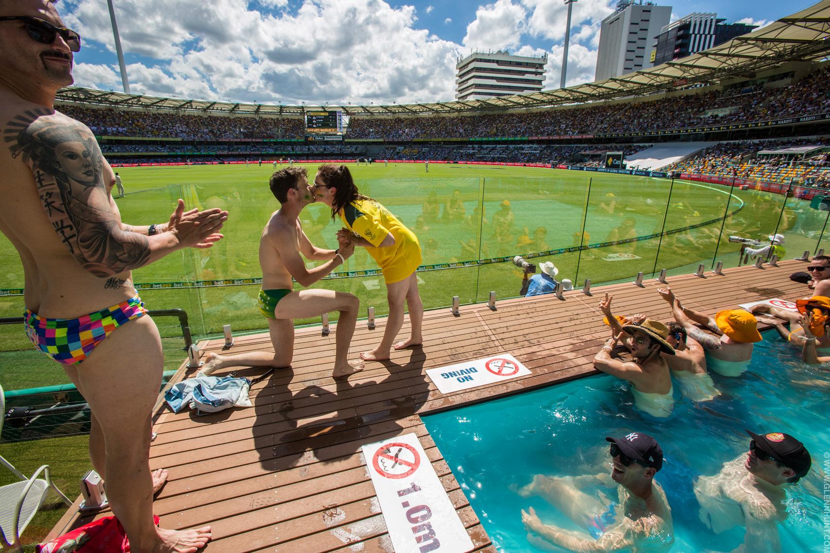 Proposal at the Cricket